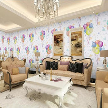 Hand painted watercolor small fresh balloons high-grade wall cloth manufacturers wholesale wallpaper photo