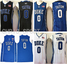 789f8fe37 Duke college custom jerseys Blue Devils embroidered basketball jerseys  Jayson Tatum #0 player white/