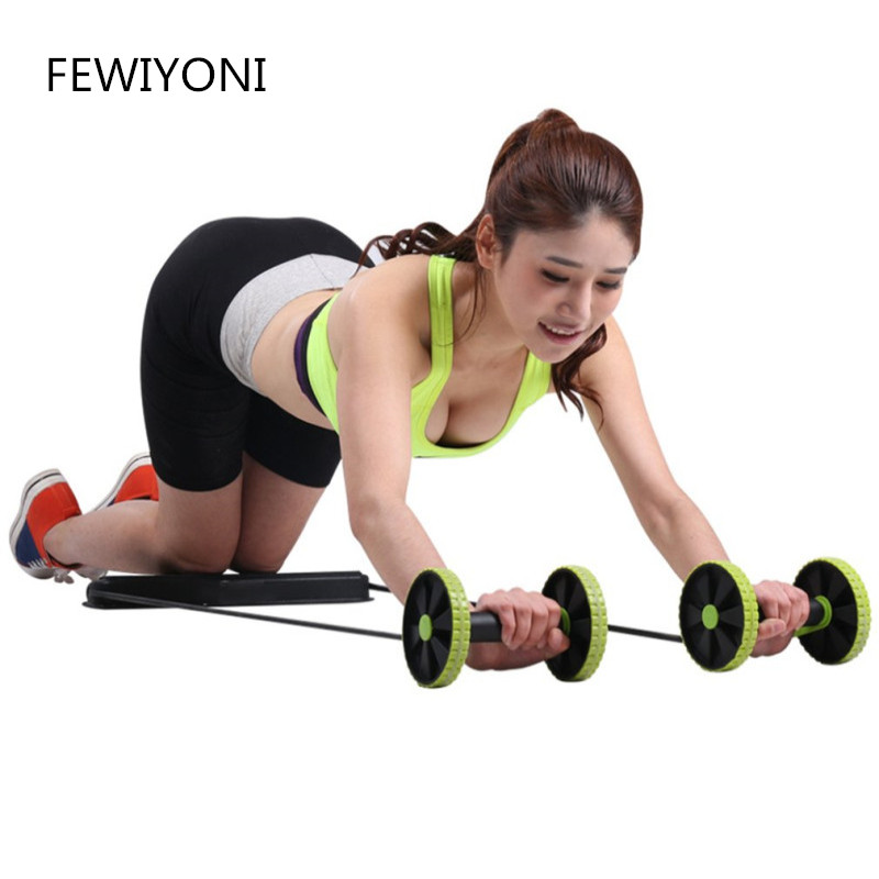 FEWIYONI Multifunctional Abdominal Wheel Double Wheel Puller Abdominal Muscle Roller Pull Rope Automatic Rebound Revoflex Xtreme