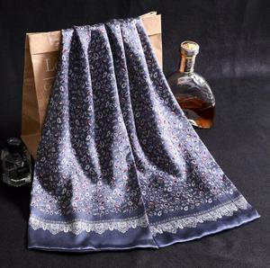 Image 5 - 送料無料メンズロングプリントデザイン100% 純粋な絹のスカーフネックスカーフ