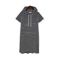 ZANZEA Women Striped Dresses 2017 Fashion Summer Loose Casual Dress Short Sleeve Knee Length Dress Streetwear