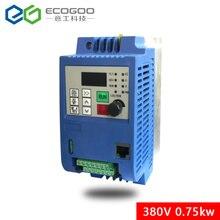 0.75KW/1.5KW/2.2KW/3KW/4KW/5.5KW/7.5KW 3 fase inverter di uscita 3  fase Convertitore di Frequenza a Velocità Regolabile 380VAC Variabile