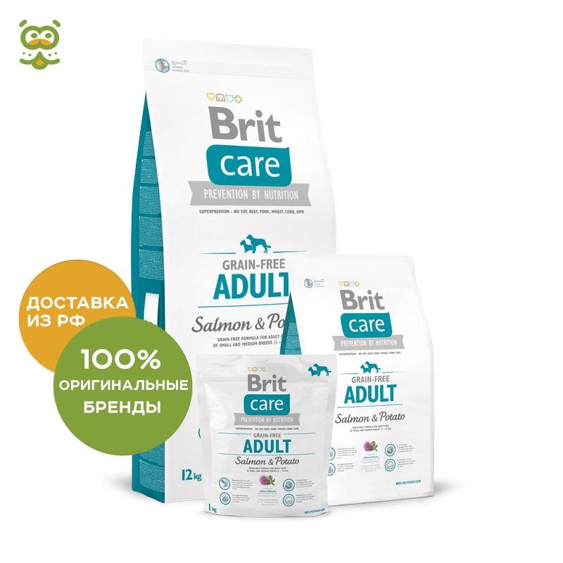 Dog food Brit Care Grain-free Adult Salmon & Potato for adult dogs of all breeds, salmon and potatoes, 12 kg. недорго, оригинальная цена