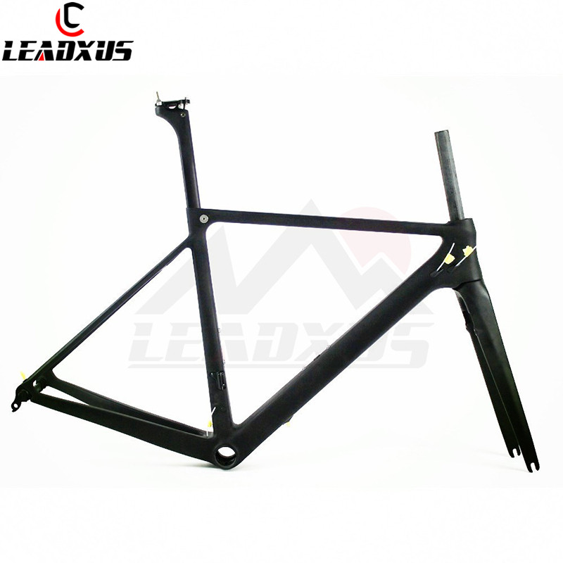 LEADXUS UV100 T800 Carbon Fiber Road Bicycle Frame+Fork+Seat Post+Clamp+Headset+BB30 Or BB68 Adapter Size 46/49/52/54cm