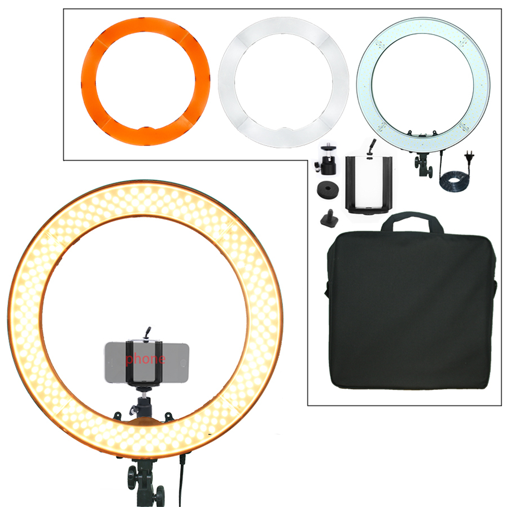 engage 240PCS Ringlicht LED 55W 5500K Camera Fotostudio Telefoonvideo - Camera en foto
