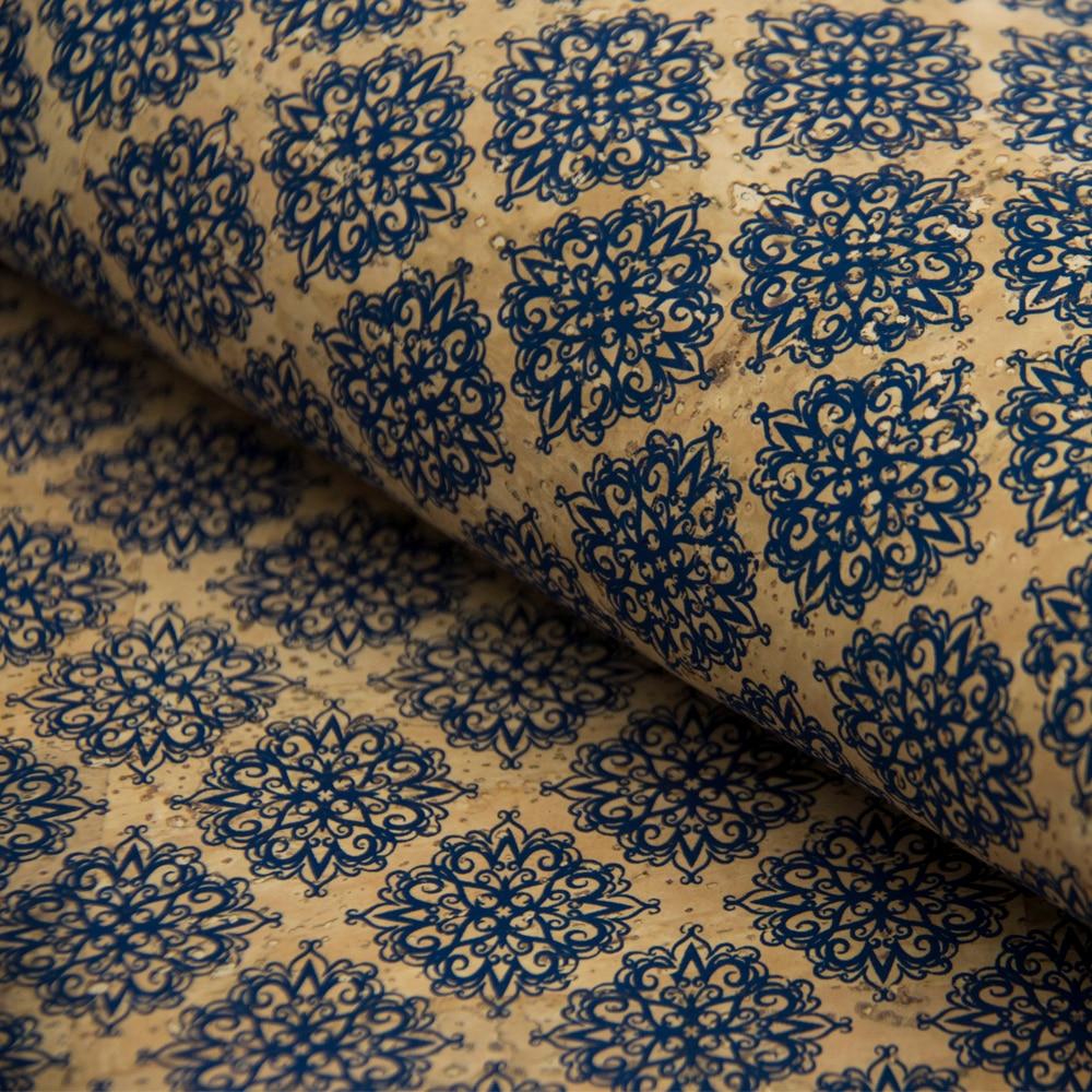 PORTUGAL cork fabric 68x50cm/135x100cm Rosacea flowers pattern Cork leather Vegan waterproof Abrasion resistance COF-151 цены онлайн