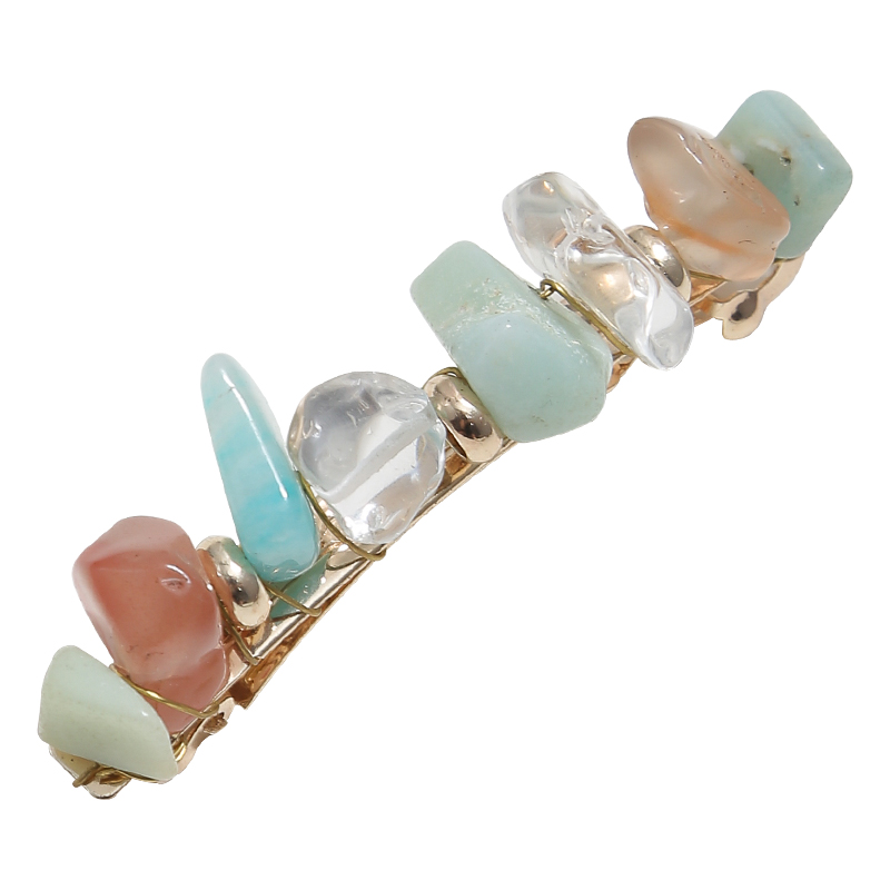 New Woman Temperament Stone And Crystal Color Match Bang Clip Simple And Fresh Retro Alloy Hair Clip Hair Accessories in Women 39 s Hair Accessories from Apparel Accessories