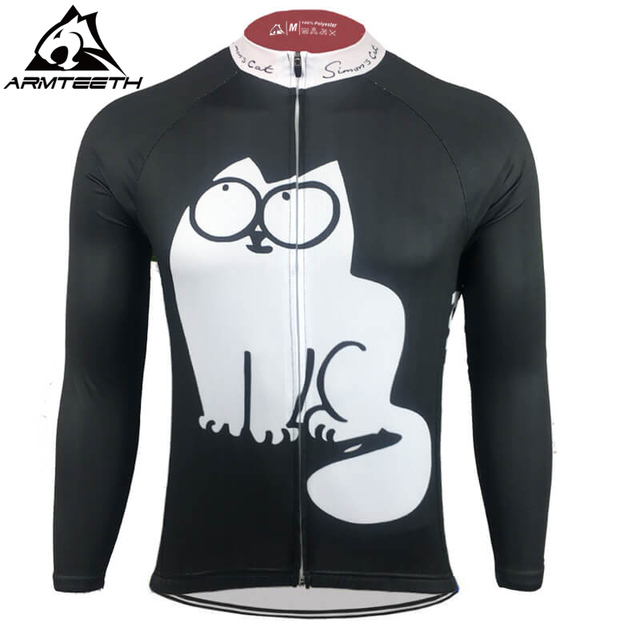 2017 Simons Cat Mens Long Sleeve Cycling Jersey Racing Sportswear Tops Bicycle  Cycling Clothing Ropa Ciclismo 752969a7e