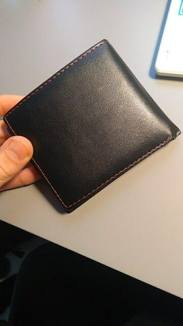 Mannen Bifold Zakelijk Lederen Portemonnee ID Creditcardhouder Portemonnee Zakken New Fashion 2019 #C photo review