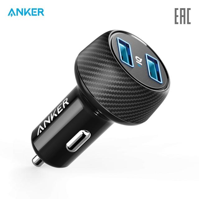 Автомобильное зарядное устройство Anker PowerDrive 2 Elite   для авто, автомобиля, официальная гарантия, быстрая доставка