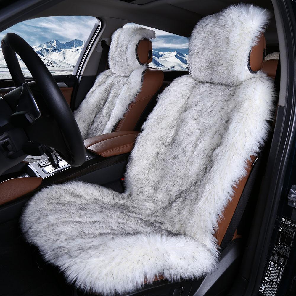 Brilliant Us 49 6 38 Off 2Pc Faux Fur Car Seat Cover 5Colors Universal Size For All Types Of Seats Very Warm Nice And Soft For Car Lada Granta In Automobiles Inzonedesignstudio Interior Chair Design Inzonedesignstudiocom