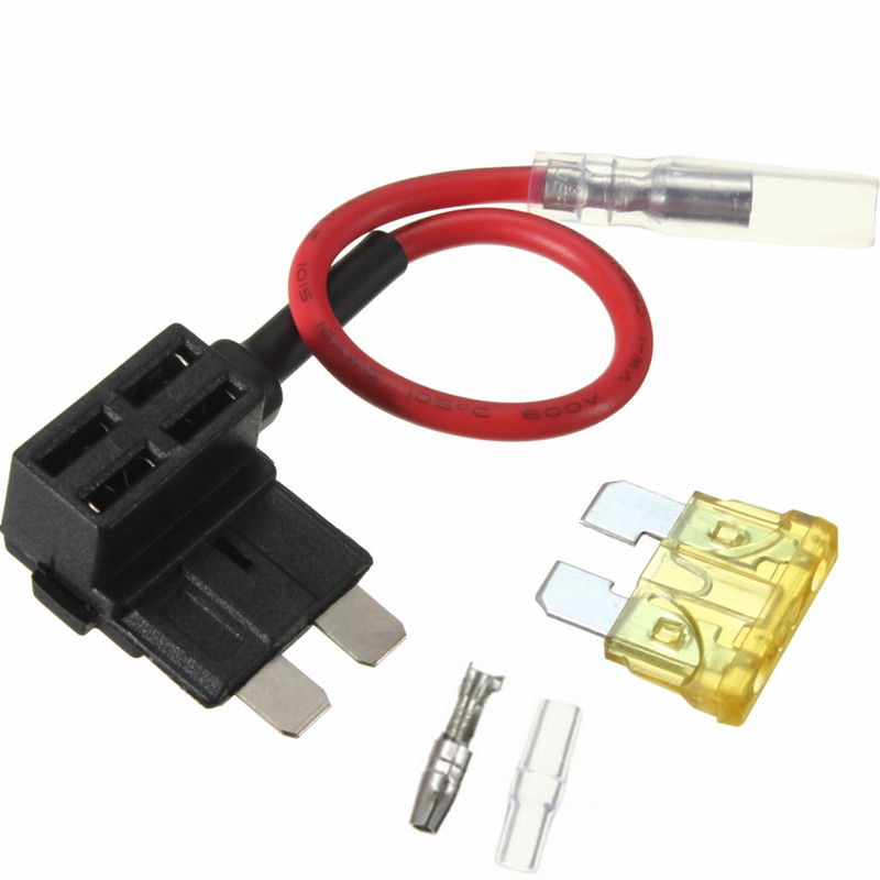 Mini/Small/Big 1PC ACS J Add A Circuit Piggy Back Pluggable Standard Blade Tap Holder Car Fuse Box Electric Appliance with Fuse add a circuit blade fuse holder with 60a blade fuse