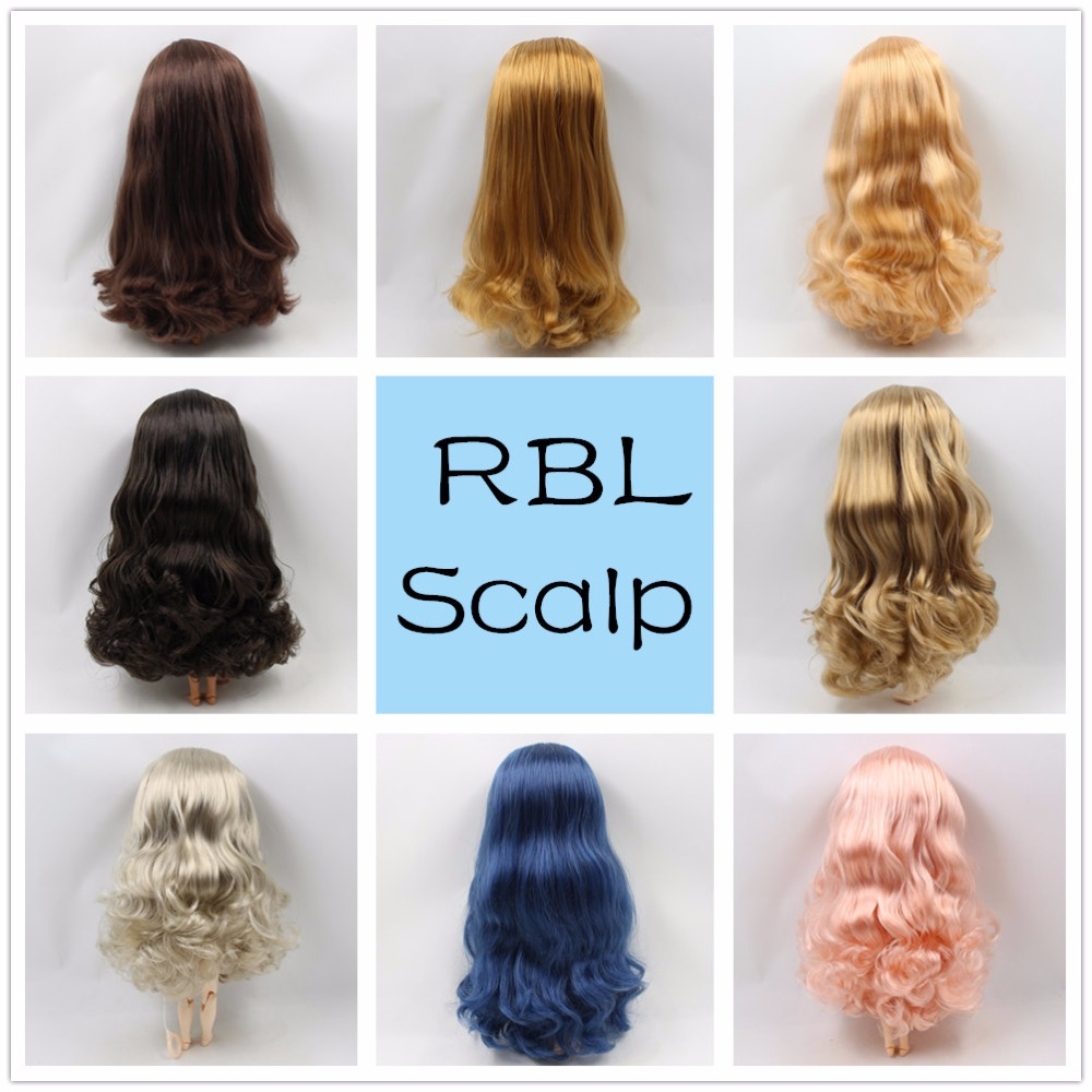 Frugal Blyth 1/6 Doll Wigs Rbl Scalp Including The Hard Endoconch Dome With Bang/no Bangs Fringe Soft Curly Hair Series A Buy Now
