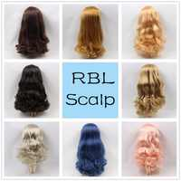 Blyth 1/6 Doll Wigs RBL Scalp including the hard endoconch dome with bang/no bangs fringe soft curly hair Series A