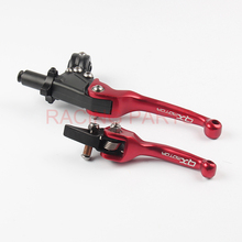 Free Shipping RACING PARTS Red QX Clutch and Brake Folding Lever for Kayo Apollo Bosuer BSE Xmotos Dirt Pit bikes. nc250 engine plate gear assy overrunning clutch 250cc zongshen engine xmotos apollo kayo bse 250cc 4valves parts