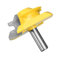 1PC 8mm 3 4 Shank Small Lock Miter Router Bit 45 Degree Woodworking Milling Cutter Power