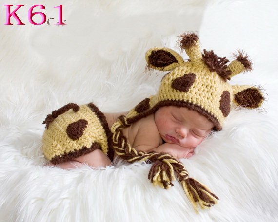 Christmas CuteDeer Baby Hat Caps For Boy Kids Beanies Knitted Infant Newborn Photography Props Crochet Costume (1PC hat)