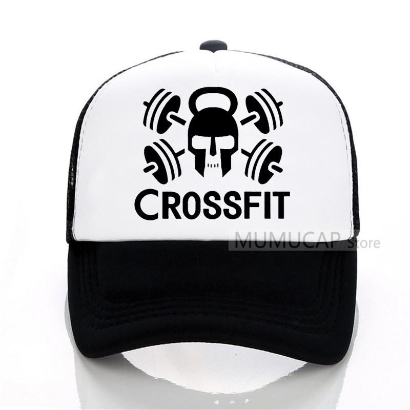 GYM Crossfit Kettle-bell Fitness Baseball cap Men women Trucker Cap Summer sports and fitness snapback hat