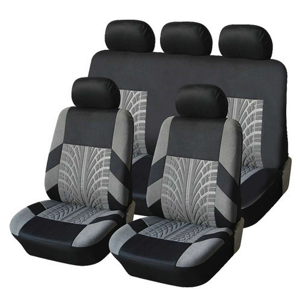 Racing Car Seat Covers Tire Track Universal Front Rear Cover Interior Accessories for Kia Rio lada Renault Nissan Ford bmw VW car seat covers racing for smart fortwo lada largus nissan leaf kia sorento bmw x5 e70 audi a3 8v car styling polyester cushion