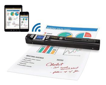 Mini Scanner portatif d'iscan 900DPI affichage à cristaux liquides JPG/PDF Format Image de Document Scanner tenu dans la main d'iscan A4 Scanner de livre tenu dans la main