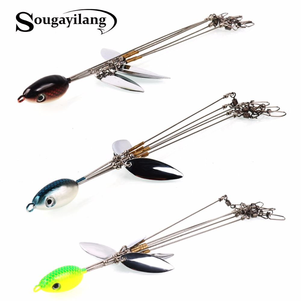 Sougayilang 20.3cm 15g Casting Spinner Spoon Fishing Lures ...