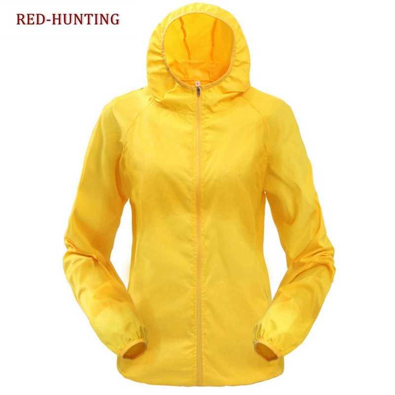 2018 Chaquetas deportivas de secado rápido al aire libre senderismo piel polvo Capa delgada impermeable UV ropa de protección