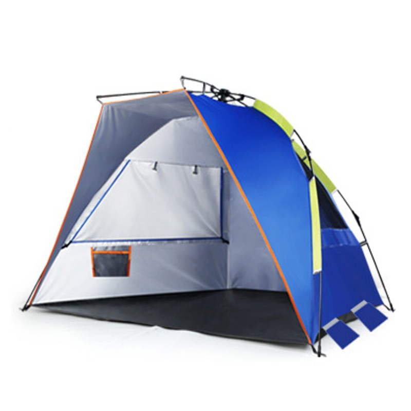 Beach Tent pop up open 2 person Sunshelter quick automatic UV-protective awning Tents camping fishing Anti-UV Fully Sun Shade high quality outdoor 2 person camping tent double layer aluminum rod ultralight tent with snow skirt oneroad windsnow 2 plus