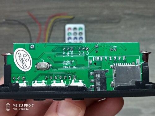 Wireless Bluetooth 12V MP3 WMA Decoder Board Audio Module USB TF Radio For Car