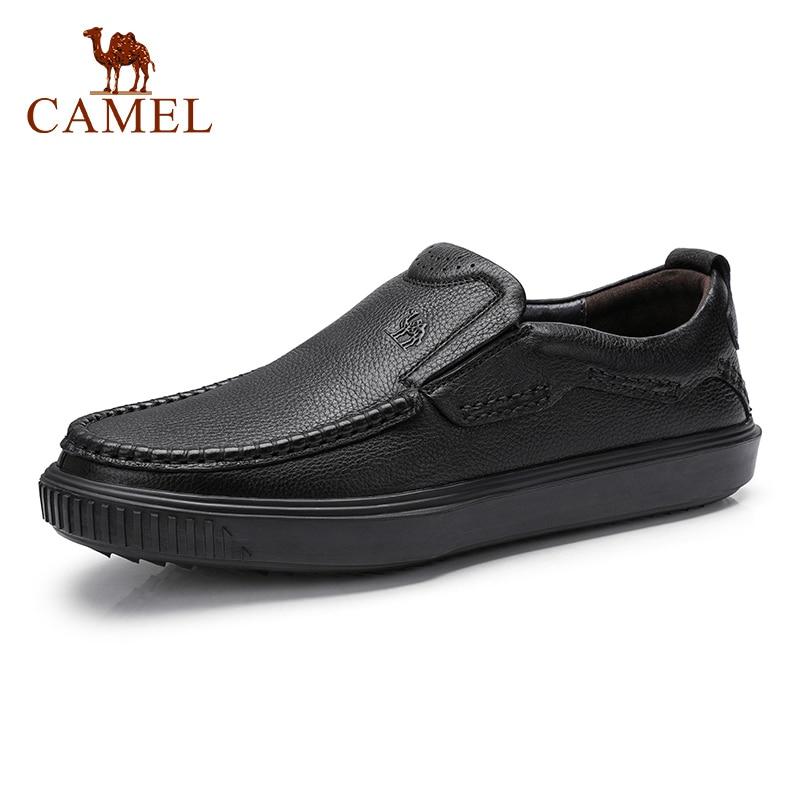 CAMEL nowy biznes Men buty młoda w średnim wieku mężczyzn mokasyny prawdziwej skóry buty w stylu casual mężczyzna miękka skóra bydlęca męskie mieszkania Mocasin w Męskie nieformalne buty od Buty na  Grupa 1