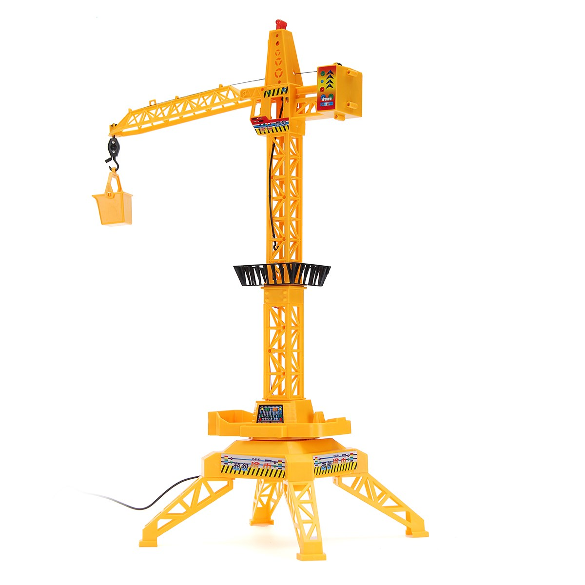 1:64 Remote Control Crane Hobby Kid Lift Construction Engineering Car Model Machinery Tower Cable Mining Car Crane Toy Gift