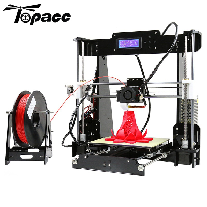 цена на Auto Leveling Anet A8 3D Printer DIY Kit 1.75mm / 0.4mm Support ABS / PLA / HIPS Desktop LCD Control Screen Display 3D Printer