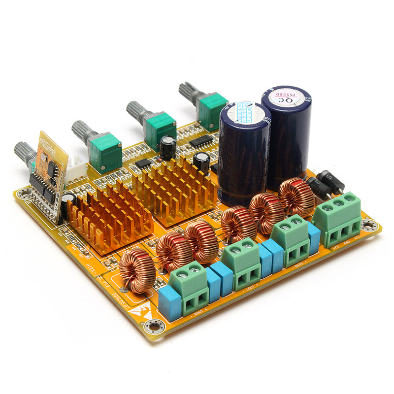Bluetooth 4.0 приемник цифрового 2.1 класса D HiFi Мощность Усилители домашние доска 3ch Super Bass AMP лихорадка TPA3116D2 100 Вт + 50 Вт + 50 Вт