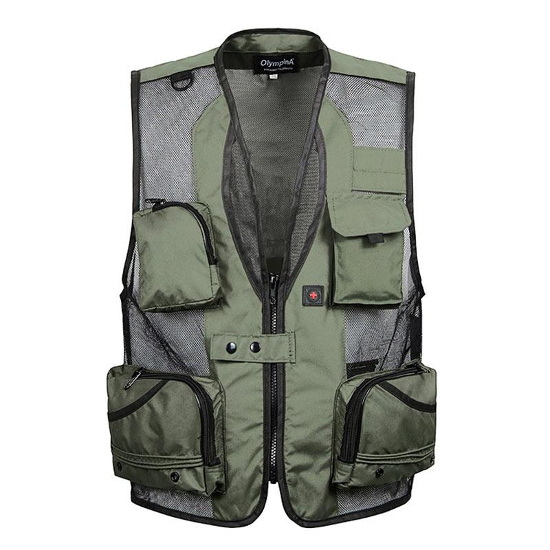 Mens Combat Army Military Waist Coat Hunter Fishing Assault Jacket Vest Green