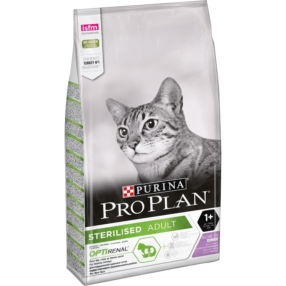 Dry food Pro Plan for sterilised cats and neutered cats, with turkey, Package, 10 kg cat dry food pro plan sterilised for neutered cats and sterilized cats turkey 1 5 kg