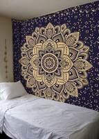 Home Decoration Lotus Tapestry Bohemia Boho Big Mandala Tapestry Wall Hanging For Wall Hippie Tapestry Beach Towel Yoga Mat