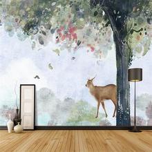 Ручная роспись мультфильм дерево украшения стены живопись на