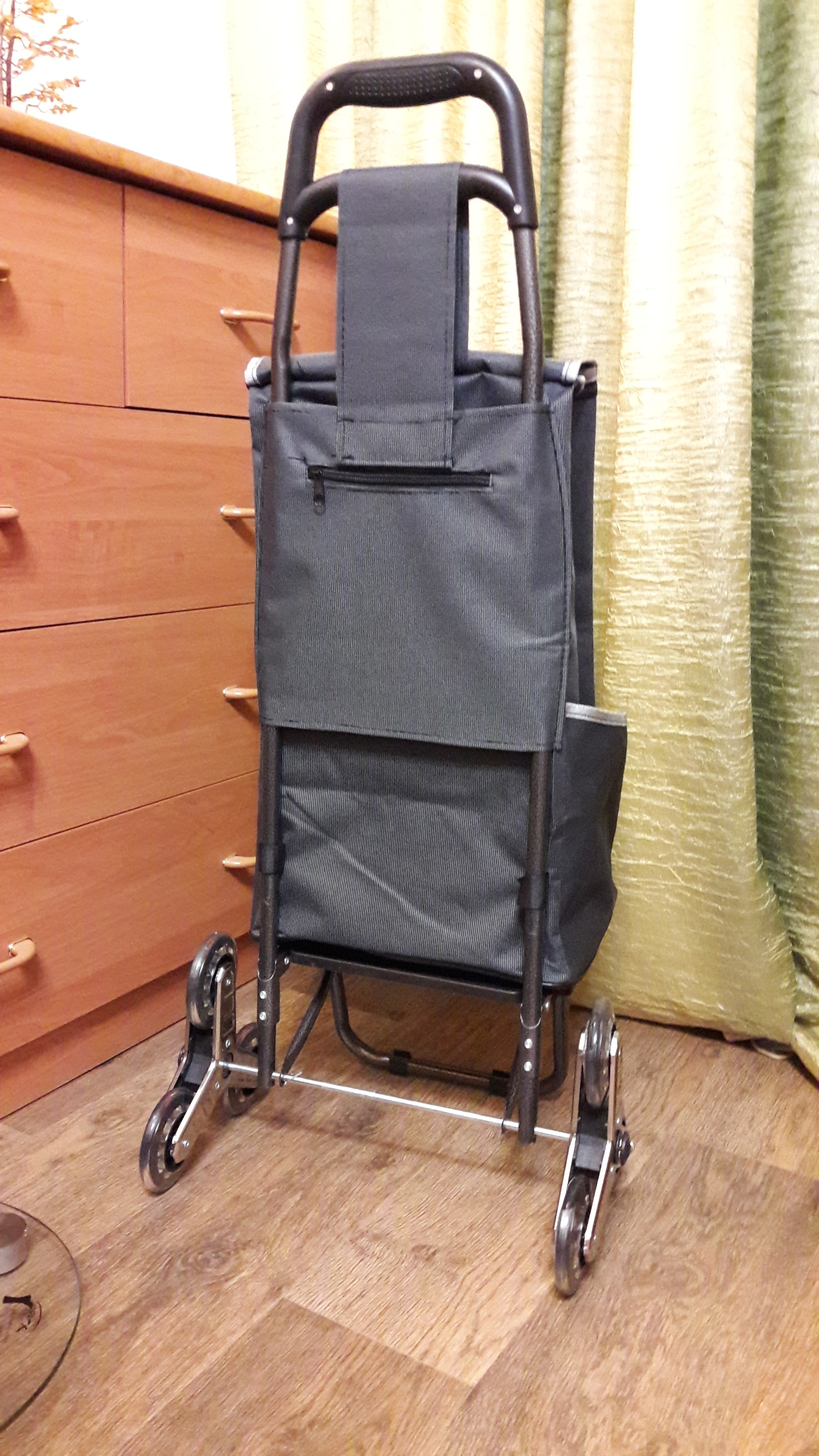 Three-wheels Stair Woman Shopping Cart ladder shopping basket large-capacity shopping Trolley Portable waterproof shopping bags photo review