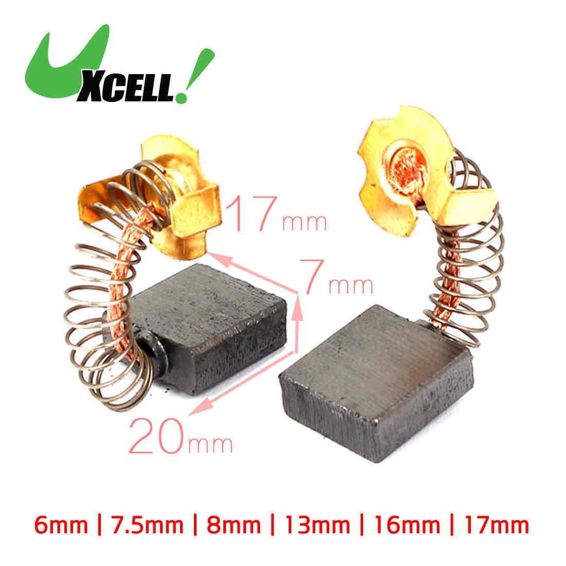 Car Care uxcell2Pcs Electric Drill 11.5mm x 9mm x 6mm Motor Carbon Brushes Spare Part