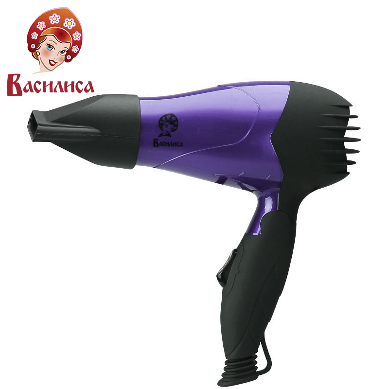 VASILISA FN1-1000 roxo alça secador de Cabelo elétrico, 1000 w, banheiro, ionic, auto proteção de superaquecimento, secador de cabelo de sopro,