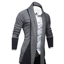 Fashion Men'S Fashion High Street Hip-Hop Cardigan Sweater Stitching