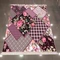 Фиолетовый черный цветочный Рисунок розы Геометрический Пэчворк турецкий 3d принт нескользящий задний моющийся декоративный ковер
