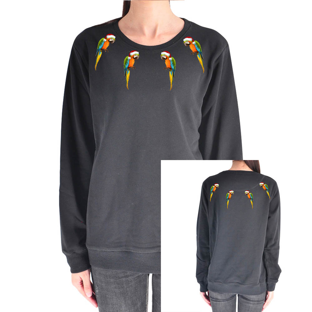LAUKEXIN Peacock & Parrots Funny Design Neck Print Womens Sweatshirts New Fashion Girls Tops USA S-3XL Model 170cm 50KG S Size