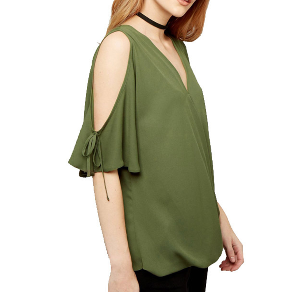 2017 Sexy Off Shoulder T Shirt Top Women Casual V Neck Bat Sleeve Loose Plus Size Female T-shirt Summer Clothes