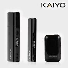 KAIYO P6 charged electronic cigarette vape kit HNB heat not burn up 35 continuous smokable 3000mAh Battery Box with iqos stick