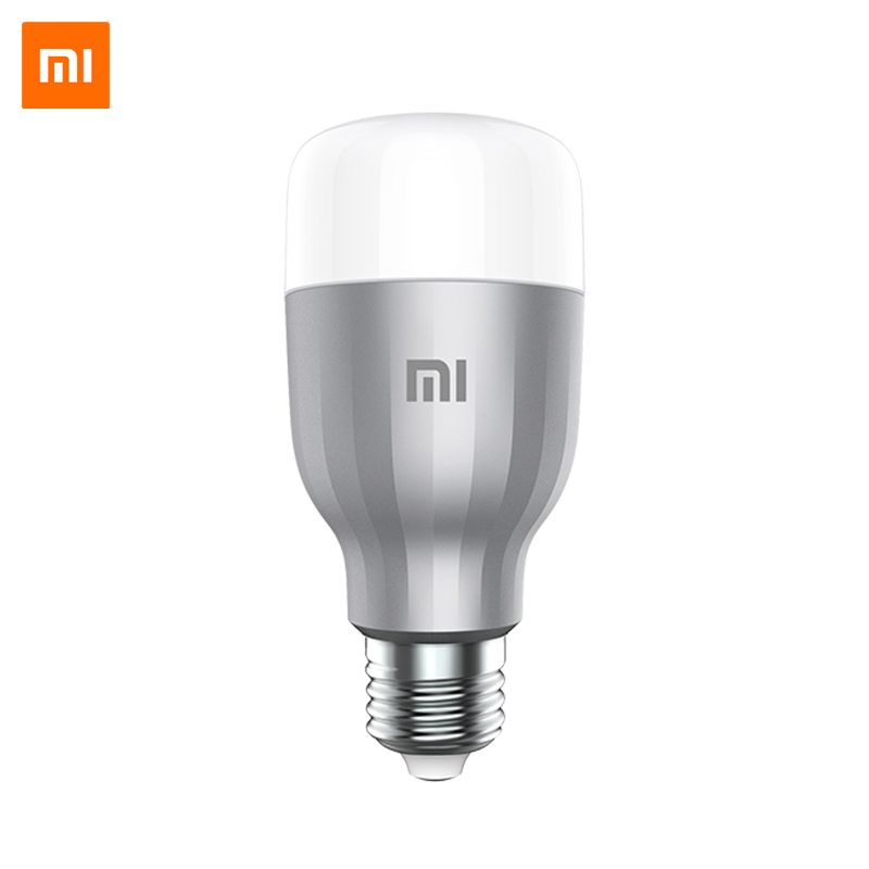 Mi LED Smart Bulb Xiaomi Mi Smart Light Bulb Wi-Fi LED Bulb App Control New Year 2x super bight 100w t20 7440 w21w amber yellow sharp chips led tail brake turn signal light bulb for car auto no error