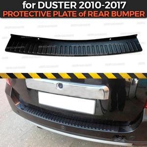 Image 1 - Placa de proteção para para choque traseiro, para renault/dacia duster 2010 2017 plástico abs proteção almofada de proteção estilizador de seda