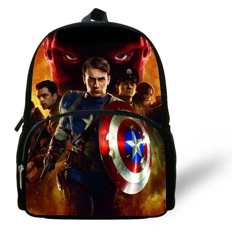 a19a4e7976 12 pollice Mochila Captain America Borsa Zaino Per Bambini Scuola Borse Per Ragazzi  Avengers Hulk Ironman Bambino Dello Zaino Mochilas Infantis in 12 ...