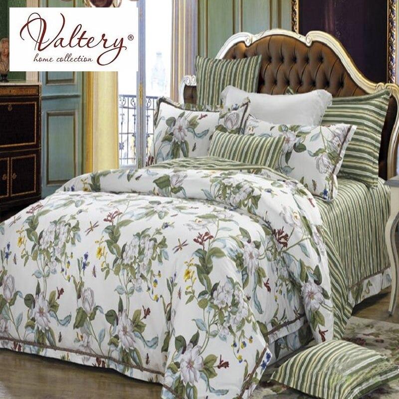 100% coton satin jacquard fleurs ensembles de literie de luxe reine roi taille housse de couette drap de lit ensemble de lit linge de lit kit plaid