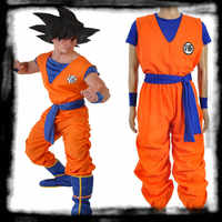Anime Cosplay   Kids Dragon Ball Z  Son Goku Cosplay Costume Super Saiyan COS suit  European  size Free Shipping