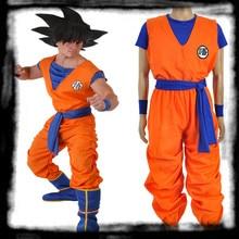 Anime Cosplay   Kids Dragon Ball Z  Son Goku Cosplay Costume Super Saiyan COS suit  European  size Free Shipping цена 2017
